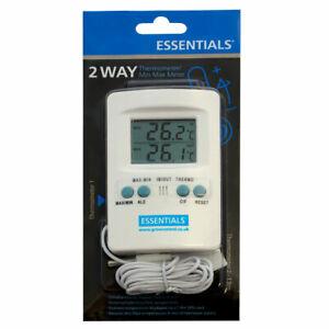 ESSENTIALS Digital 2 Way Thermometer/Min Max Meter