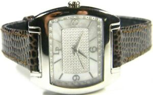 Ladies Lucien Piccard Queen Pacifica Real 35 Diamond Rectangle Watch # 28003WHD