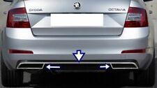 Skoda Octavia Mk3 Chrome Rear Bumper Streamer & Exhaust Deflector Frame S.Steel