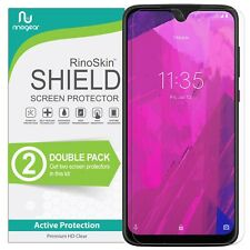 [2-PACK] T-Mobile Revvlry Plus Screen Protector RinoGear Case Friendly Accessory