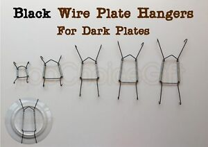 Black China Plate Decorative Dish Wire Wall Display Hanger Hangers Hanging Mount