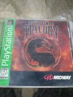 Tested Sony Playstation 1 PS1 Video Game Mortal Kombat Trilogy Greatest Hits