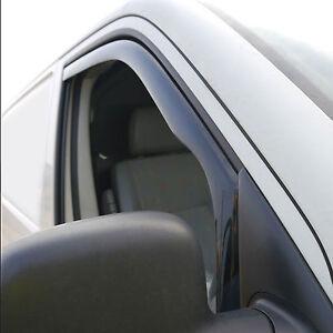 VW T5 Door Wind Deflectors, Smoked, Fit Inside Window Channel 2003 - 2015