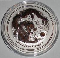 Australien 2 Oz Silber Lunar Drache II 2012 Anlagemünze Wertsteigerungspotenzial