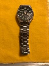 Seiko 5 Automatic Black Face Thai Numbers Vintage Watch