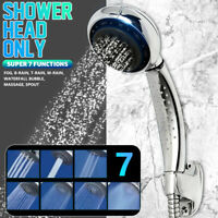7 Modes Bathroom Toilet Chrome Water Saving Pressure Hand Held Shower Head  f