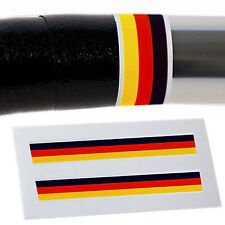 x2 German Flag Handlebar Finishing Tape Retro Fixie Racer L'Eroica