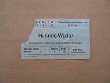 Hannes Wader Ticket Heidelberg Stadthalle 06.11.1980 Eintrittskarte Konzert