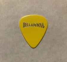 Joey Belladonna - Albert Romano 2010 Tour Guitar Pick Signature Anthrax Yellow