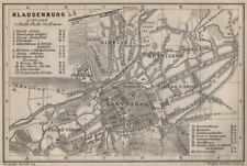 CLUJ-NAPOCA town city planul orasului. Klausenburg  Kolozsvar. Romania 1905 map