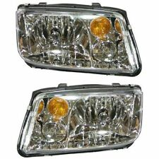 Volkswagen Jetta 02-05 Right Rh & Left Lh Headlights Headlamps Pair Set of 2