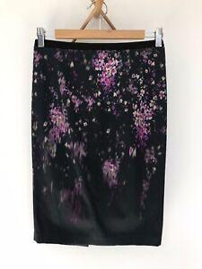 ZARA Floral Pattern Stretchy Pencil Skirt Size S