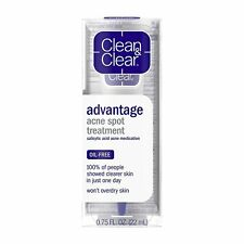 Clean & Clear Advantage Acne Spot Treatment 0.75 Fl. Oz. Pack Of 2. Expire 05-20