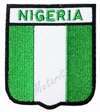 #A11 - NIGERIA Crest Flag Iron On Patch Aufbügler Applique Ecusson Wappe Fahne