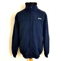 Slazenger Mens Windcheater Size Large Navy Blue Full Zip Through Loosefit