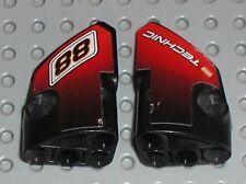 LEGO Technic Black Panel Fairing 1 & 2 ref 87080 & 87086 / set 8051 Motorbike