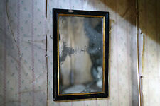 More details for antique victorian ebonised mercury plated rectangular wall mirror c.1875-85
