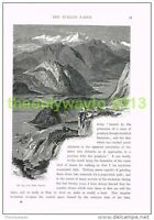 THE ALPS FROM MONTE GENEROSO, ITALY, Book Illustration (Print) c1875