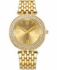 Timothy Stone Women's 'Burst' Gold Tone Crystal Accented Boyfriend Watch