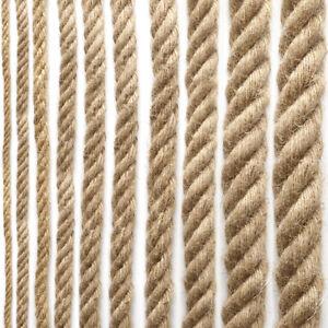 Hemp Rope Garden Jute Twine String for DIY Cat Scratcher Craft Decor Multi Size