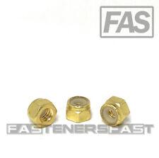 25 14 20 Brass Nylon Insert Lock Nuts Locking Hex Nuts 14 20 Solid Brass