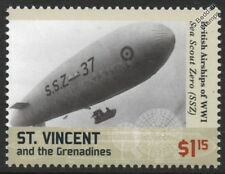WWI Royal Naval Air Service SEA SCOUT ZERO SSZ-Class No.37 Airship Blimp Stamp