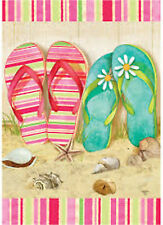 "Spring Summer Beach Pool Mini Flag ""Flip Flop Summer"""