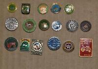 Yugoslavia Tractor Traktor vintage enamel pin badge Anstecknadel all different