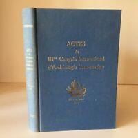 Actes de La III Congreso Internacional De Arqueología Bajo Barcelona 1961