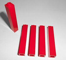 Lego (2453) 5 Säulen/Stützen 1x1x5, in rot aus 4555 6278 7208 7945