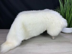 XXL Sheepskin White Rug Pelt / Genuine Real Sheepskin Creamy White Throw