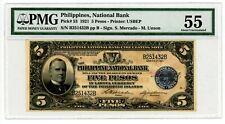 Philippines  ... P-53 ... 5 Pesos ... 1921 ... *AU-UNC*  PMG 55 (AU-UNC).