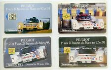 CARTE TELEPHONIQUE / LOT DE 4 CARTES DIFFERENTES  / EN L'ETAT / VOITURE