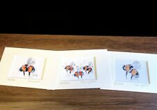 Bumblebees. 3 x Mini art prints from original paintings by Suzanne Patterson.XXx