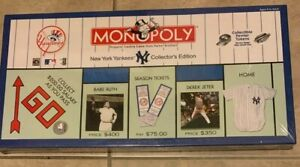 New York Yankees Collectors Edition 2001 Monopoly Board Game NEW DAMAGED BOX