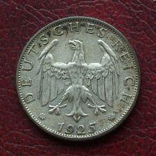 Alemania 1925f Plata 2 Marcas