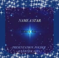 ☆ NAME A STAR...CERTIFICATE PERSONALISED GIFT ☆ CHRISTMAS   LOVED ONE