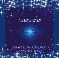 ☆NAME A STAR...CERTIFICATE/PERSONALISED GIFT ☆ ANNIVERSARY. 25th 50th.  Any