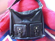 DANA BUCHMAN BLACK HOBO PURSE
