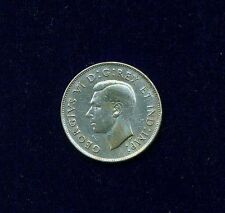"CANADA  GEORGE VI  1946  50 CENTS SILVER COIN, XF+, SCARCE ""HOOF IN 6"" VARIETY"