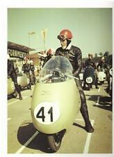 1955 Moto Guzzi dustbin racer on grid color photo REPRO
