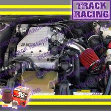 88 89 90 91 92-94 CHEVY CAVALIER Z24 2.8L 3.1L V6 AIR INTAKE KIT+K&N Black Red