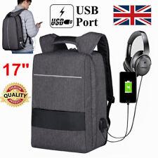 17inch Unisex Laptop Backpack Bag W/h USB Charging and Headphone Port Waterproof