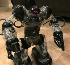 """WowWee Robosapien 13"""" Remote Control Robot Black and Clear"""
