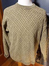 Tundra Canada Men's Long Sleeve Geometric 3D Beige Sweater Size L