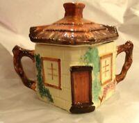Keele St. Pottery Staffordshire England Artist Signed Cottageware Sugar Bowl lid