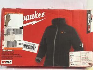 Milwaukee 232B-21L M12 Heated Softshell Jacket Kit for Women, Large Black (O)