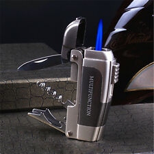 Hot  Multifunctional knife bottle opener Windproof Butane Lighter Ni