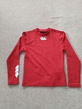 Canterbury Kids Baselayer Cold Long Sleeved Top BNWT red junior small