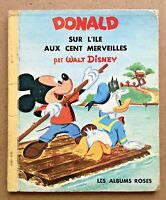 MICKEY & DONALD sur L'Ile aux Cent Merveilles Walt Disney 1961 Les Albums Roses